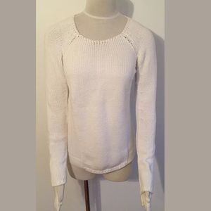 Club Monaco Chunky Knit White Sweater Women's S